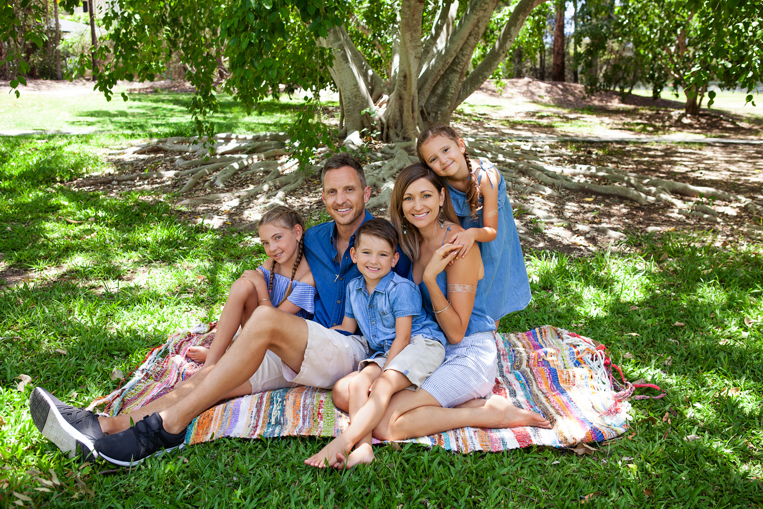 family sitting under tree on picnic blanket, gold coast best family portrait photographer, gold coast best family portrait photography, gold coast best family photographer, gold coast best family photography, gold coast family portraits, gold coast family portrait photographer, lana noir, @lananoir, gold coast natural light photography, gold coast outdoor photography, robina photographer, broadbeach photographer, gold coast professional photographer, gold coast families